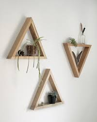 Woodworking Wall Shelves Plans by Diy Wooden Triangle Shelves Triangle Shelf Triangles And Shelves