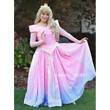 cosplay pink blue dress princess sleeping beauty costume aurora women