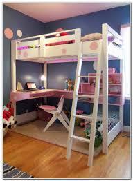 Bedroom Queen Size Bunk Bed With Desk Underneath Tamingthesat - Queen sized bunk bed