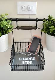 decorative charging station diy charging station using ikea s fintorp system hometalk