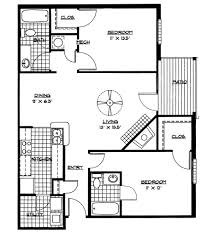floor plans for two bedroom homes gallery also small house