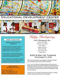 thanksgiving lunch menu newsletters u2014 the educational development center
