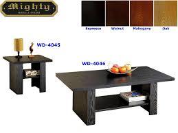 Oak Living Room Tables by 2pcs Wooden Living Room 3d Paper Veneer Black Oak Coffee Tables