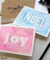 homemade christmas cards tutorial watercolor darice