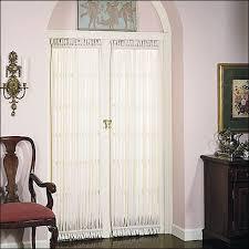 Sheer Door Curtains Shadow Stripe Semi Sheer Door Panels And Window Panels