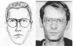 police artist sketches next to criminals pictures to pin on