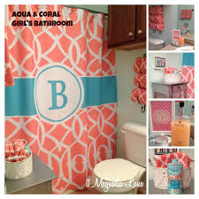 our new home u0027s bathroom in aqua and coral turquoise 11 and