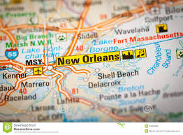 City Map Of New Orleans by New Orleans Usa Map Stock Photo Image 59316118