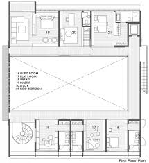 House Plans With Atrium In Center by Courtyard House Open To Outdoors With Sculptural Staircase