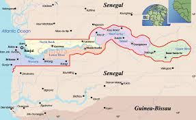 africa map gambia the gambia home