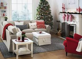 White Ottoman Coffee Table - lovely living room ideas with sectional sofas and red wool throw