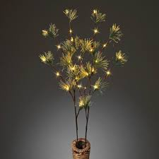 battery operated lighted branches 39 pine and berry everlasting glow battery operated led