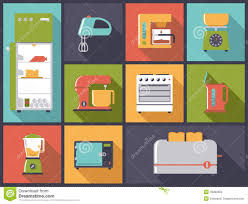 kitchen appliances icons vector illustration stock vector image