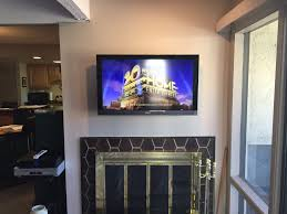 wall mount dining room home theater television installation above
