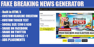 Breaking News Meme Generator - fake breaking news headline generator by jlords codecanyon