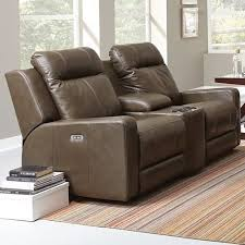 palliser redwood casual power reclining console loveseat with cup