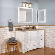 Bathroom Wall Cabinets White Extraordinary Bathroom Wall Cabinets With Drawers Using White