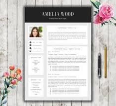 modern elegant template resume template for word cover letter