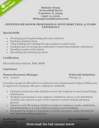 sample resume of hr recruiter how to write a perfect human resources resume human resources resume melanie