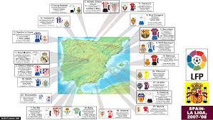 2007 World Map by Spain La Liga 2007 08 Season Zoom Map Billsportsmaps Com