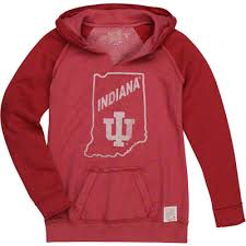 indiana hoosiers original retro brand women u0027s raw edge two tone