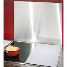plaque inox cuisine wenko crédence protège mur inox accessoire cuisson wenko sur maginea
