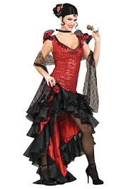 Halloween Costumes Mexican Women U0027s Deluxe Spanish Dancer Costume Exudes Fiery Spirit