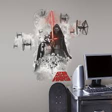 star wars wall decals roselawnlutheran star wars the force awakens villains giant wall decals big stickers room decor ebay