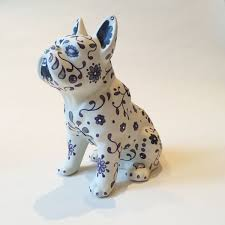 painted bulldog ornament small marlene s