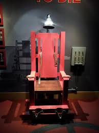 electric halloween props old sparky the electric chair used at sing sing prison a