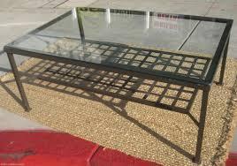 furniture glass coffee table ikea rectangle traditional glass