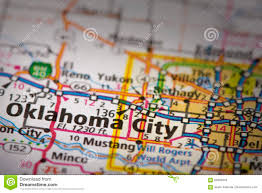 United States City Map by Oklahoma City On Map Stock Photo Image 89393679
