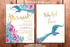 mermaid baby shower invitations mermaid baby shower invitation purple and teal mermaid baby