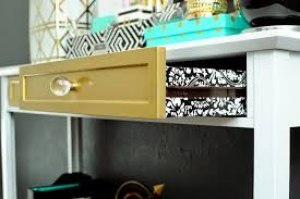 gold u0026 white console table furniture makeover monica wants it