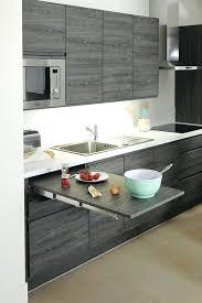 cuisine en gris table cuisine grise table extractible dissimulace 1 matre de