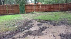 hurricane harvey 2017 back yard drainage youtube
