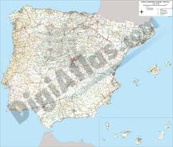 Map Of Spain And Portugal Vectorized Maps Digital Maps Increase Search Engine Traffic