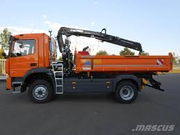 used mercedes benz atego 1530 af 4x4 tipp och kranbil crane