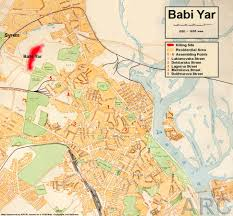 Kiev Map Babi Jar