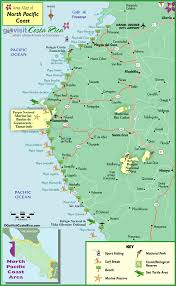 Map Of Northwest Florida by North Pacific Coast Map Costa Rica Go Visit Costa Rica