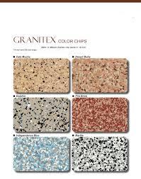 Stain Color Chart Concrete Coating Color Chart Esr Decorative Concrete Experts Granitexcolorchart 1 Esr