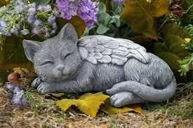 cat memorial angel cat statue cat memorial garden sculpture in concrete cat