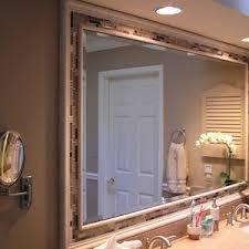 How To Frame A Bathroom Mirror Bathroom Mirror 82 New Superlative Framed Design Ideas Vision How