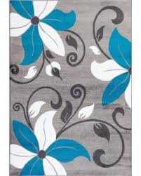 Modern Floral Rugs Slash Prices On Rugs Modern Floral Turquoise White Gray