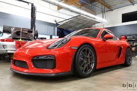 porsche cayman red guards red porsche cayman gt4 forgeline gs1r satin gunmetal wheels