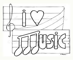music coloring pages coloring page