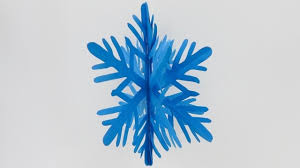 how to make a 3d hanging snowflake decoration ornament