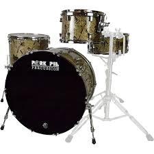 pork pie usa custom maple 4 piece drum set shell pack in top hat