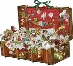 christmas treasure chest advent calendar calendar club uk