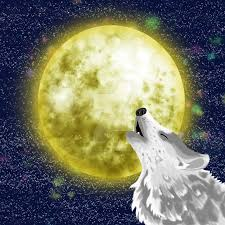wolf howling at the moon by deviouseyez on deviantart